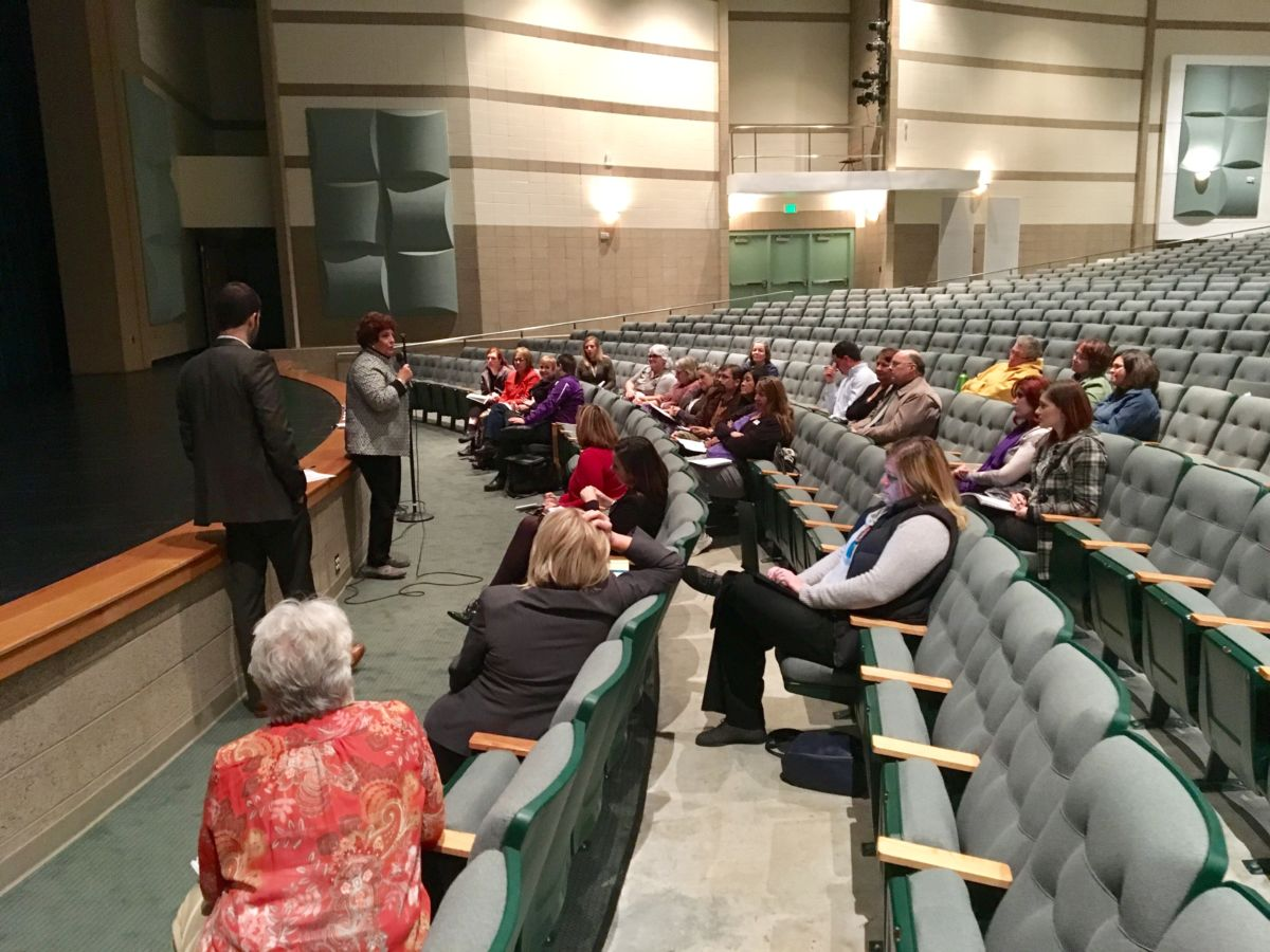 Roughly 45 educators attended Tuesday's meeting